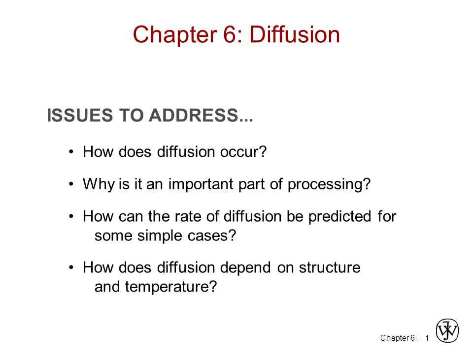 Chapter 6 - 1 ISSUES TO ADDRESS... How does diffusion occur.