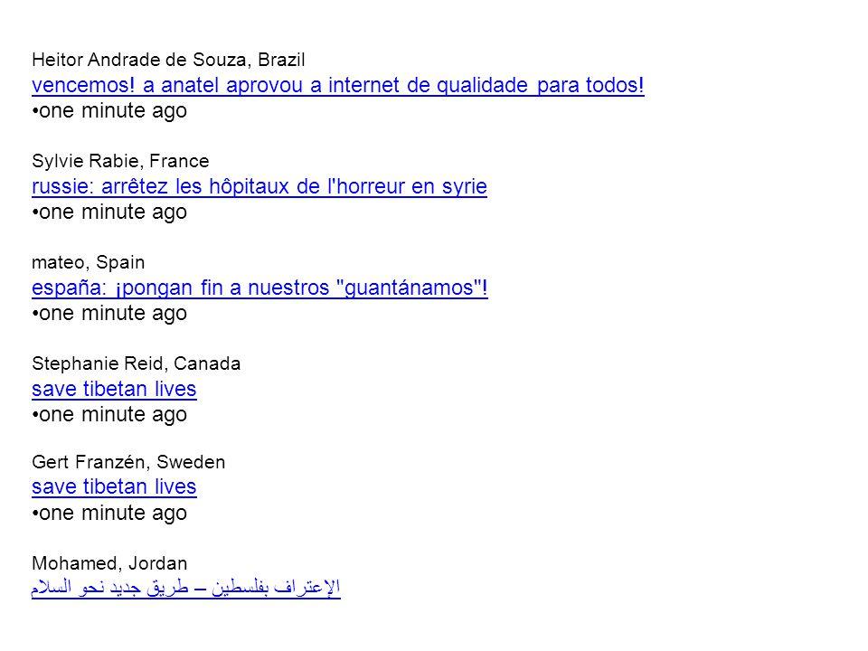 Heitor Andrade de Souza, Brazil vencemos. a anatel aprovou a internet de qualidade para todos.