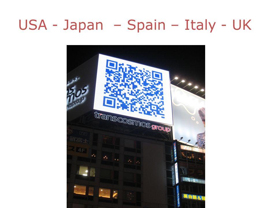 USA - Japan – Spain – Italy - UK