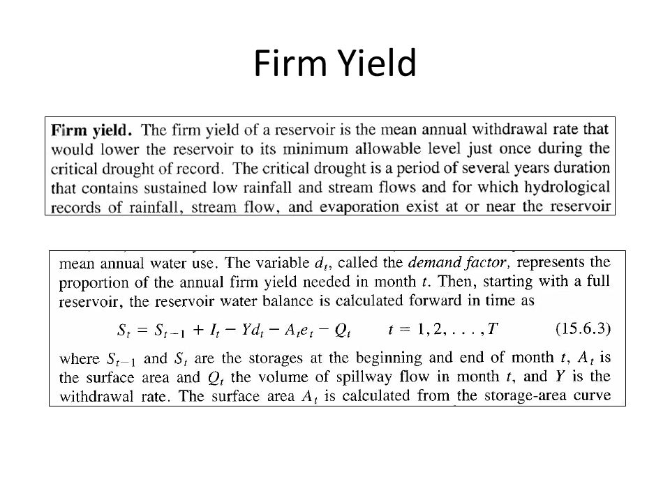 Firm Yield