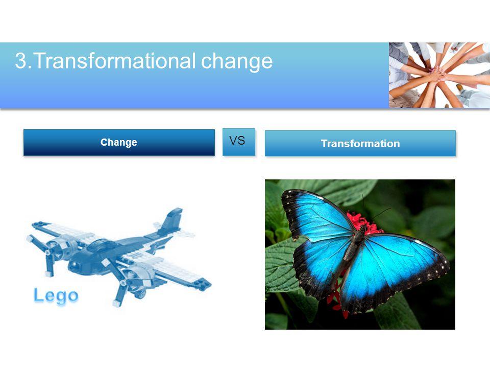 Transformation Change VS 3.Transformational change