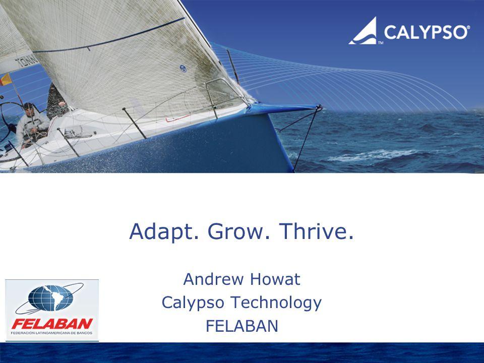 Adapt. Grow. Thrive. Andrew Howat Calypso Technology FELABAN