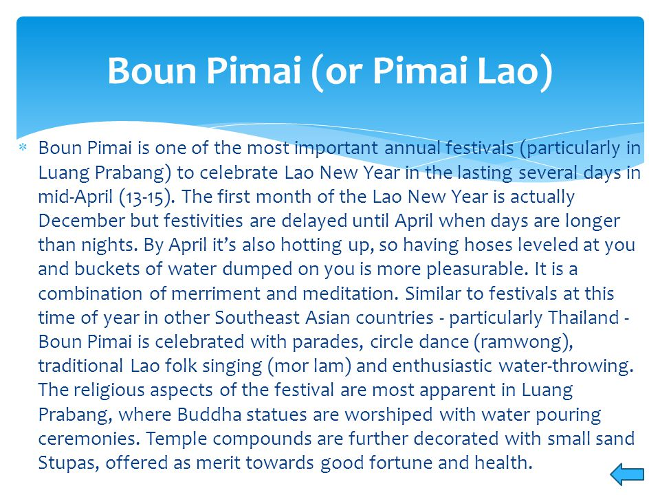  This takes place at That Luang in Vientiane.