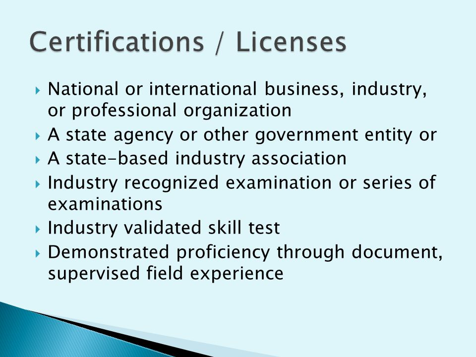  National or international business, industry, or professional organization  A state agency or other government entity or  A state-based industry a