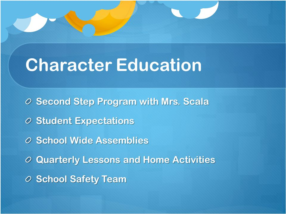 Character Education Second Step Program with Mrs.