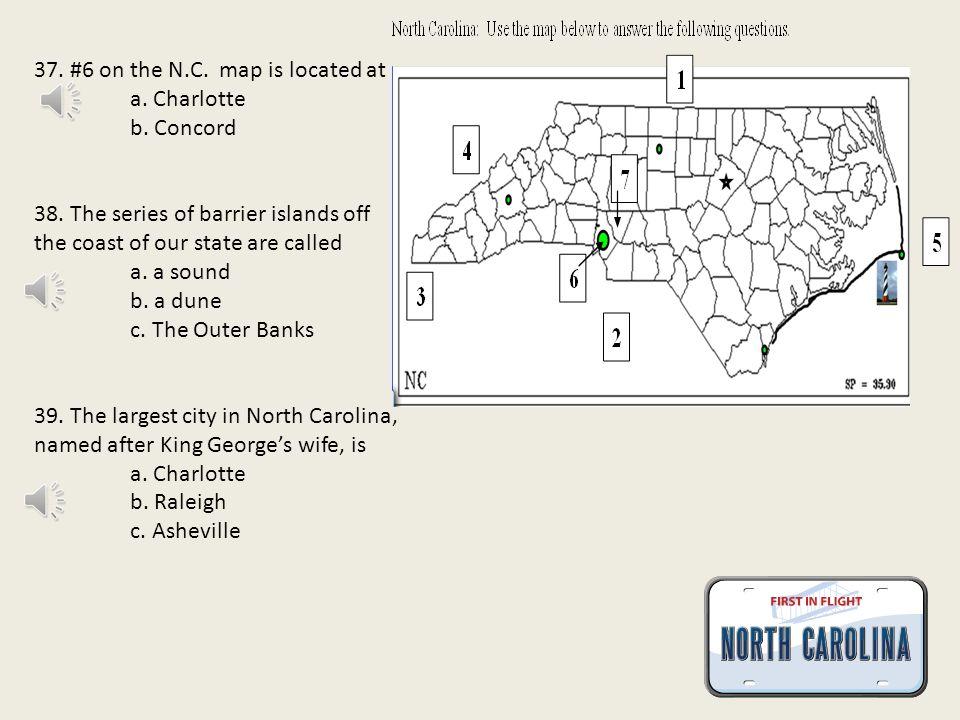 34. #4 indicates a. Virginia b. Tennessee c. Georgia 35.