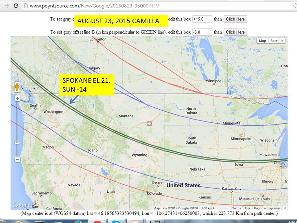 AUGUST 23, 2015 CAMILLA SPOKANE EL 21, SUN -14