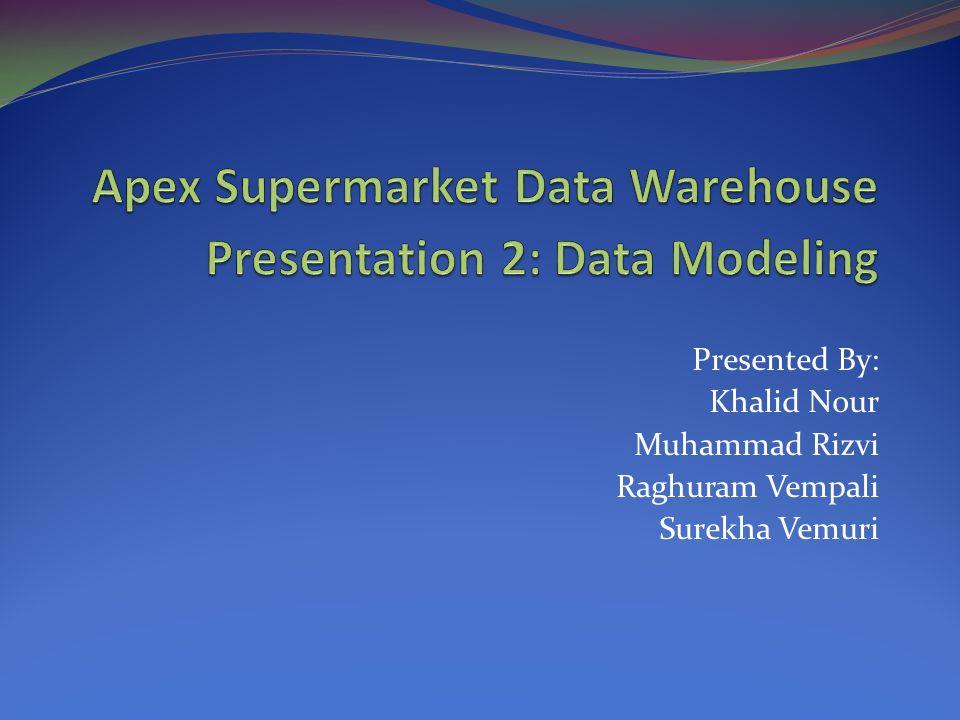Presented By: Khalid Nour Muhammad Rizvi Raghuram Vempali Surekha Vemuri