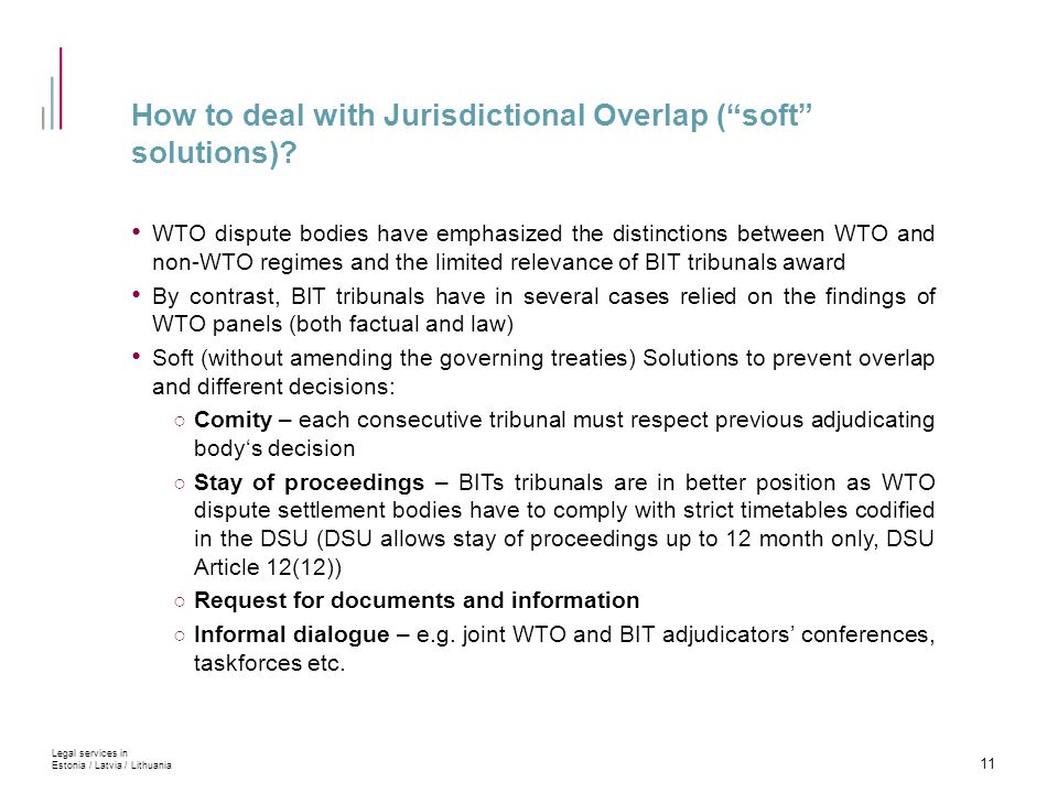How to deal with Jurisdictional Overlap ( soft solutions).