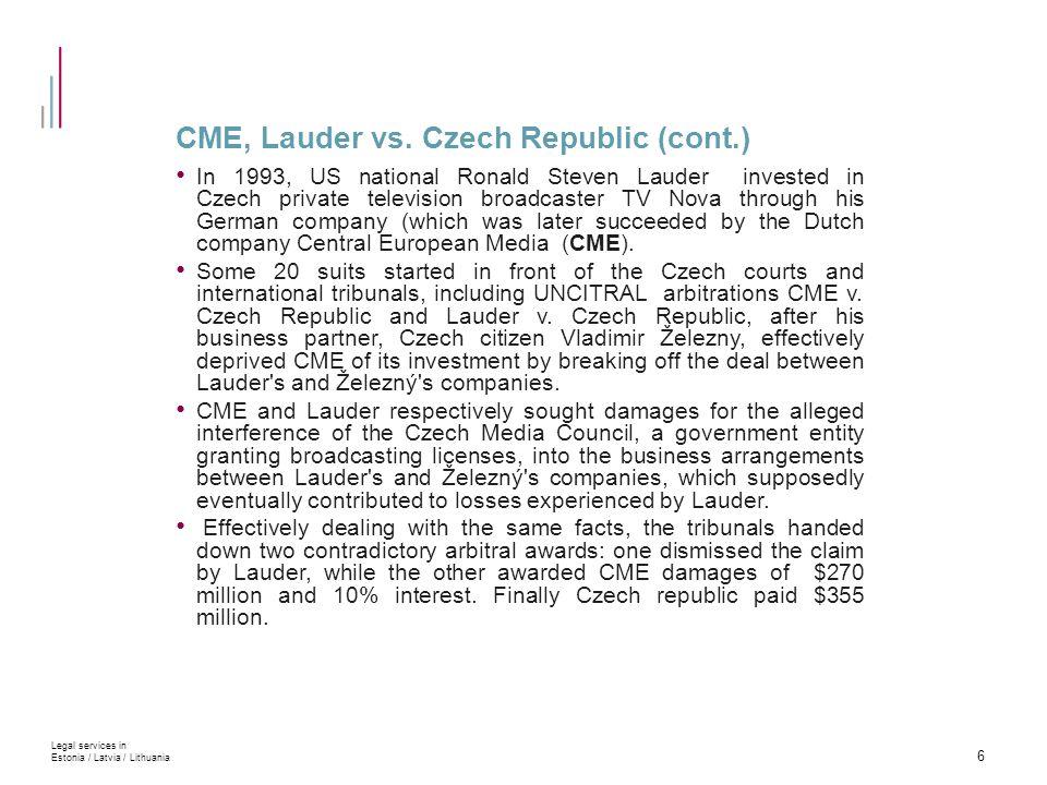 CME, Lauder vs.