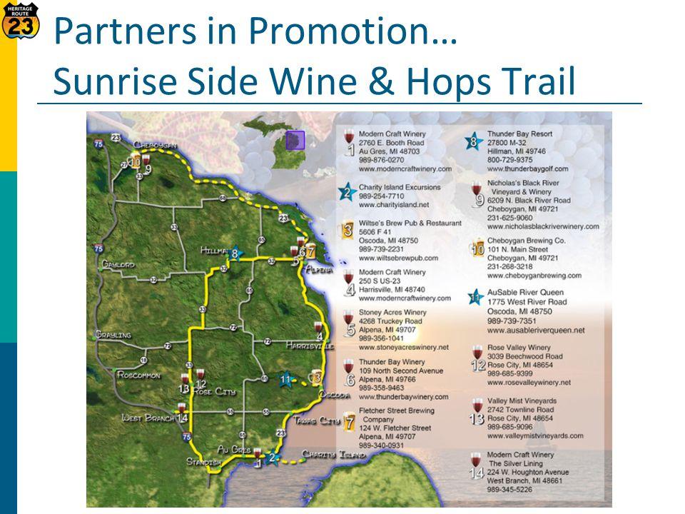 Partners in Promotion… Sunrise Side Wine & Hops Trail