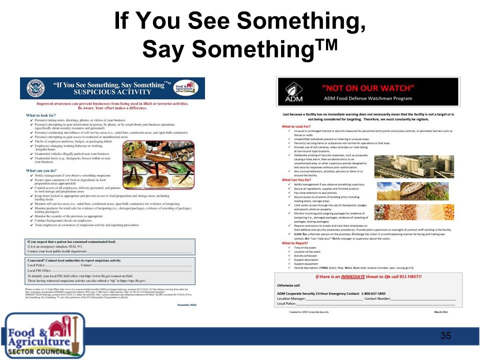 35 If You See Something, Say Something TM