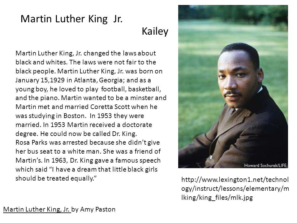 Martin Luther King Jr. Martin Luther King, Jr. by Amy Paston Martin Luther King, Jr.