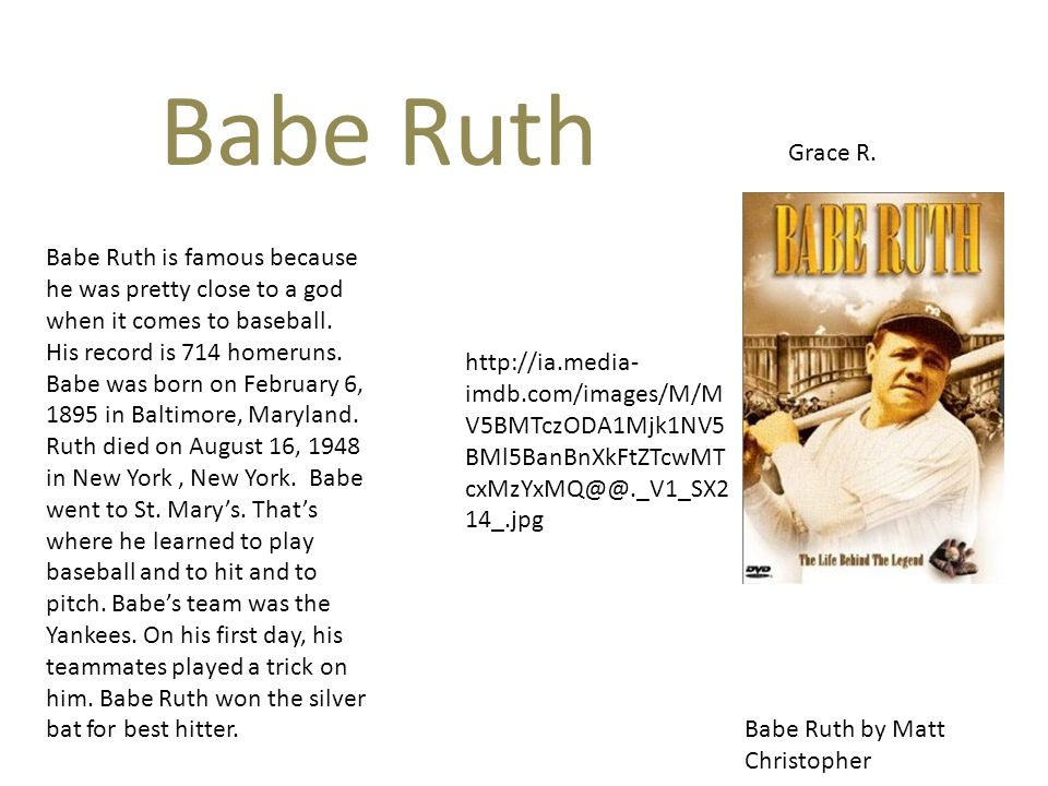 Babe Ruth Grace R.