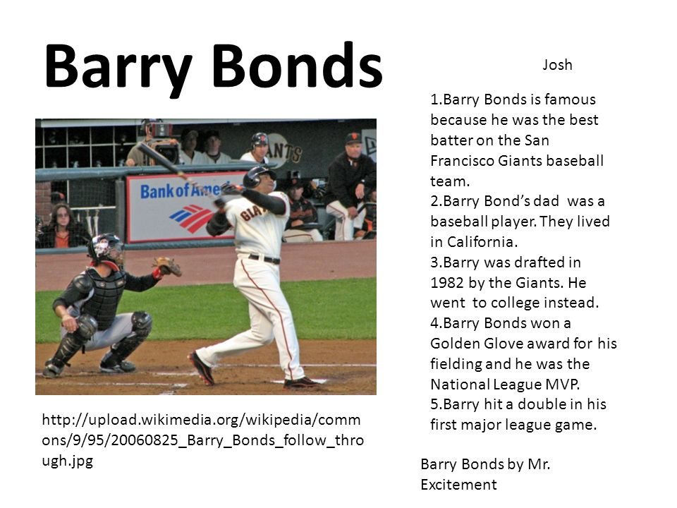 Barry Bonds Josh Barry Bonds by Mr.