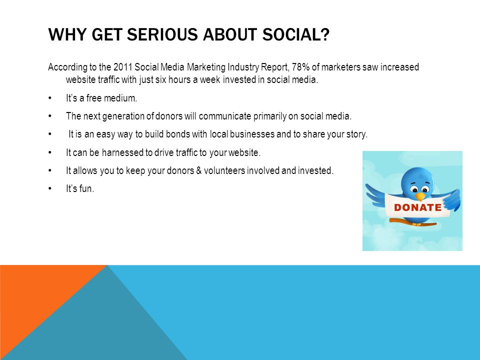 WHY GET SERIOUS ABOUT SOCIAL.