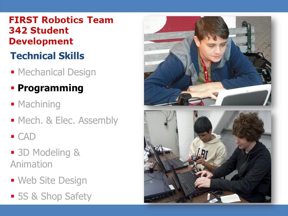 29 Technical Skills  Mechanical Design  Programming  Machining  Mech.