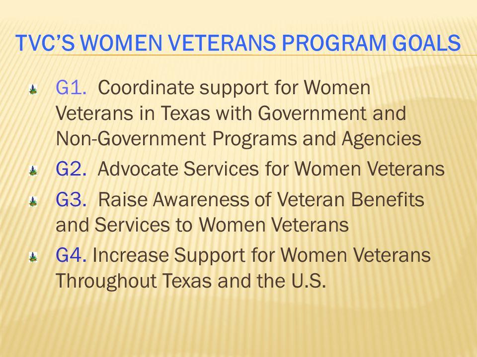 TVC'S WOMEN VETERANS PROGRAM GOALS G1.
