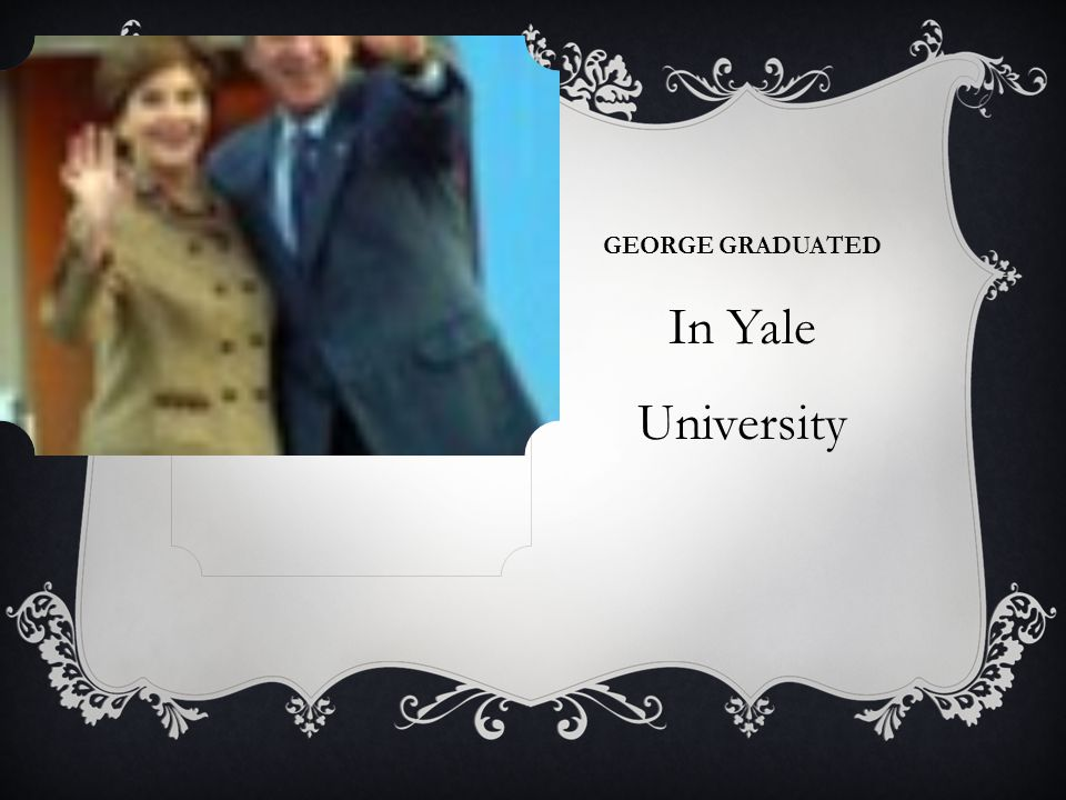 GEORGE GRADUATED In Yale University