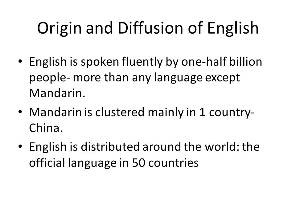 English Speaking Countries Fig.