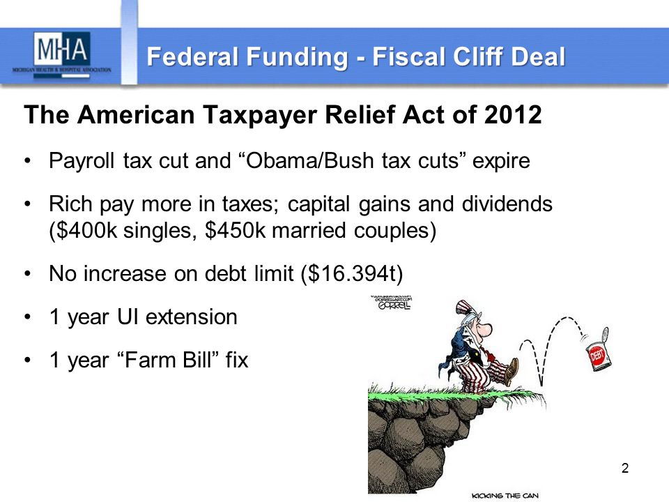 Fiscal Cliff Deal – Health Care 1 yr.