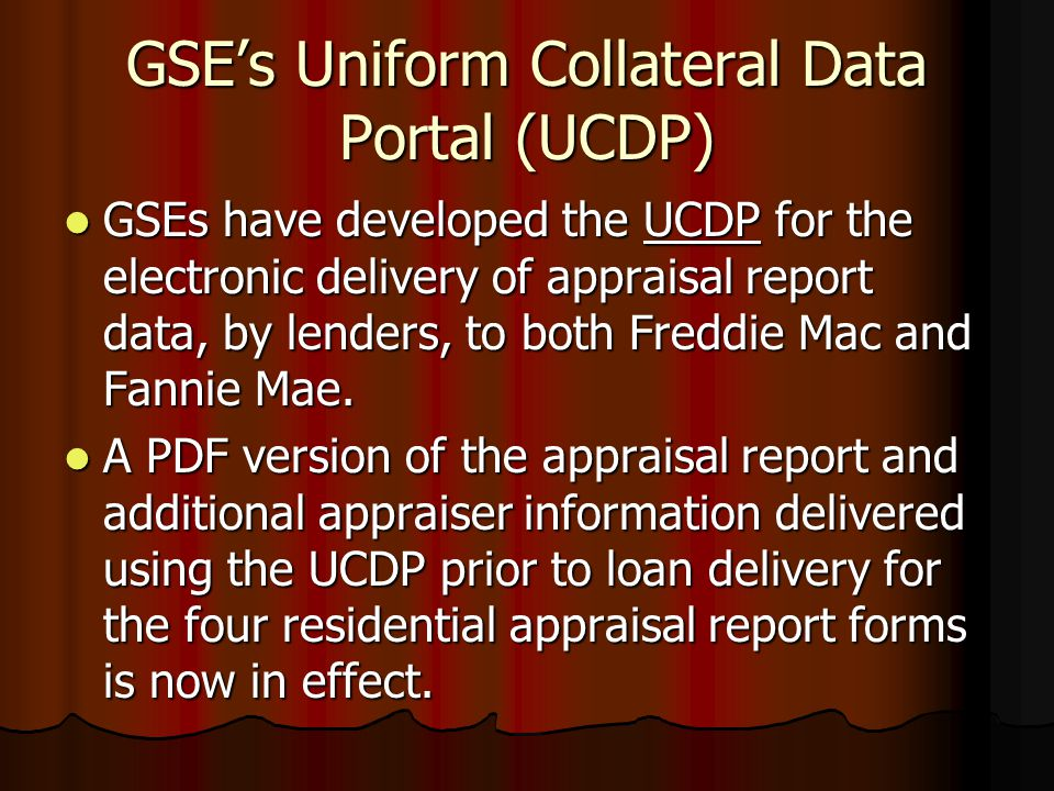 Uniform Appraisal Dataset (UAD) The current version (Version 1.4, dated June 17,2012) of the UAD specifications and the 77 FAQs can be found on: The c