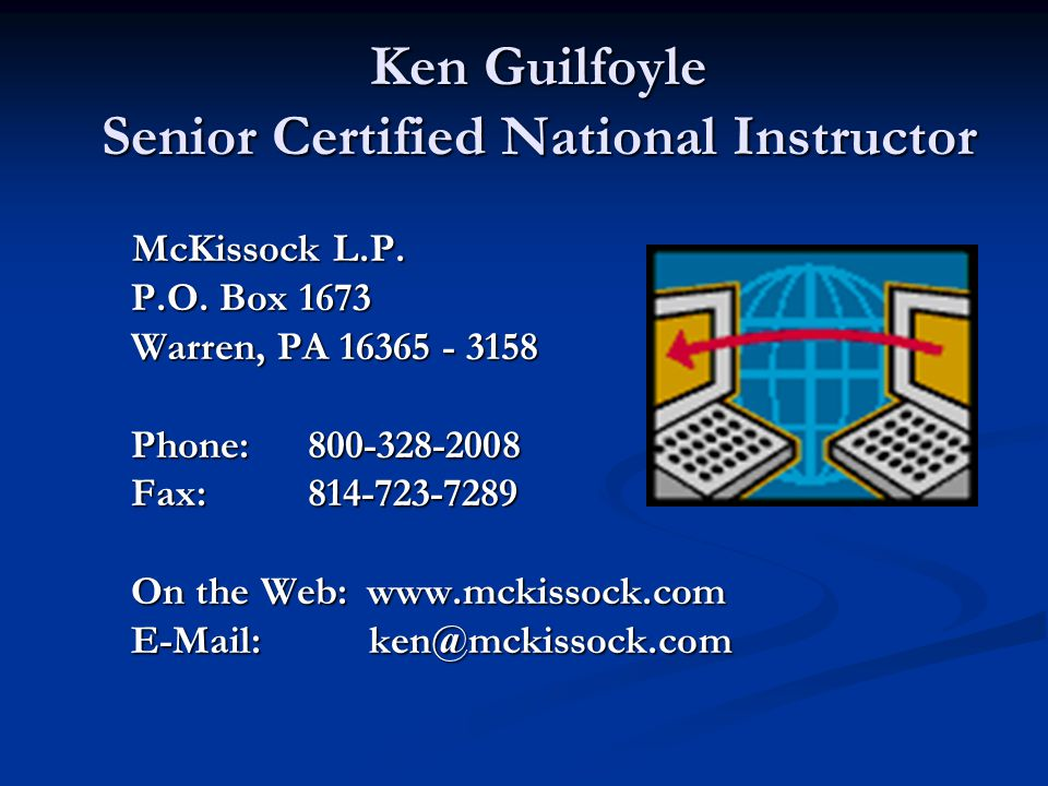 McKissock Appraisal School Rev. 1-20-2013
