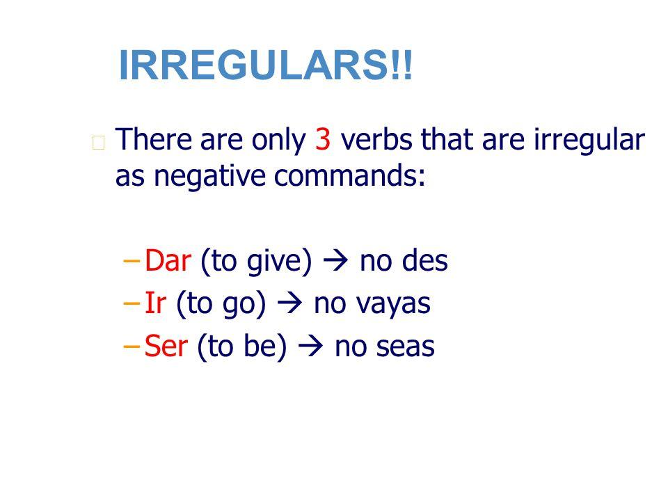 IRREGULARS!.