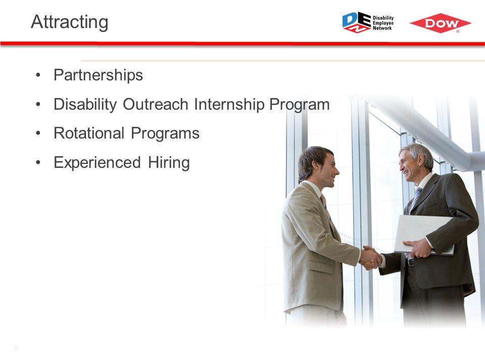 5 Attracting Partnerships Disability Outreach Internship Program Rotational Programs Experienced Hiring