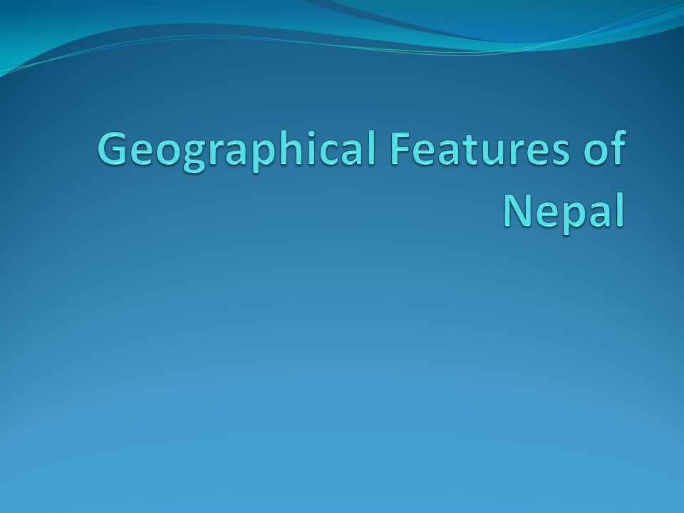 Locations, Extent and Boundary Nepal is located mostly on the Southern slope of central Himalayan in the continent of ASIA.