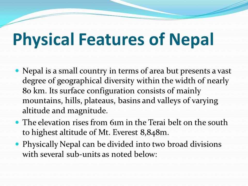 The Siwalik or Churia Range The Siwalik or Churia range, the foot hill of Mahabharat range rises abruptly in the north of the Terai plain.