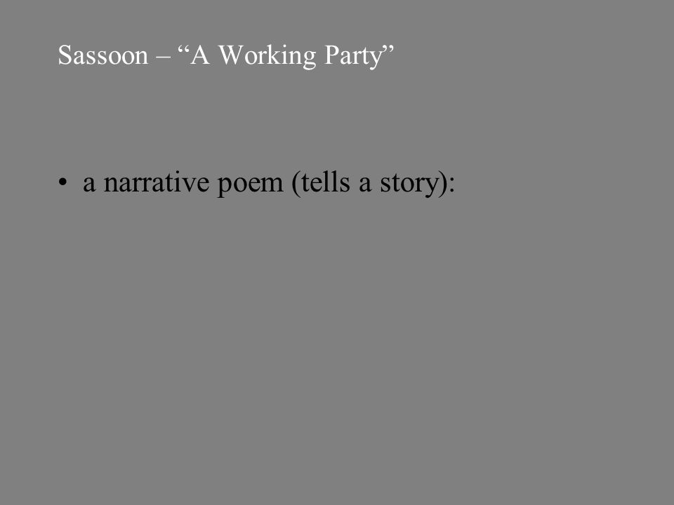 a narrative poem (tells a story):