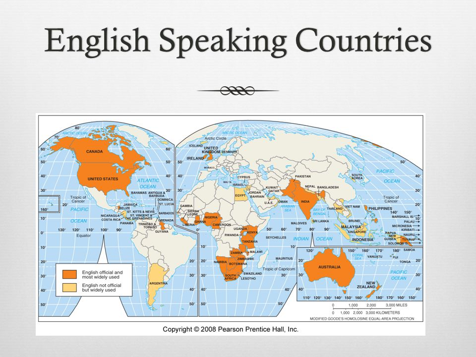 English Speaking CountriesEnglish Speaking Countries