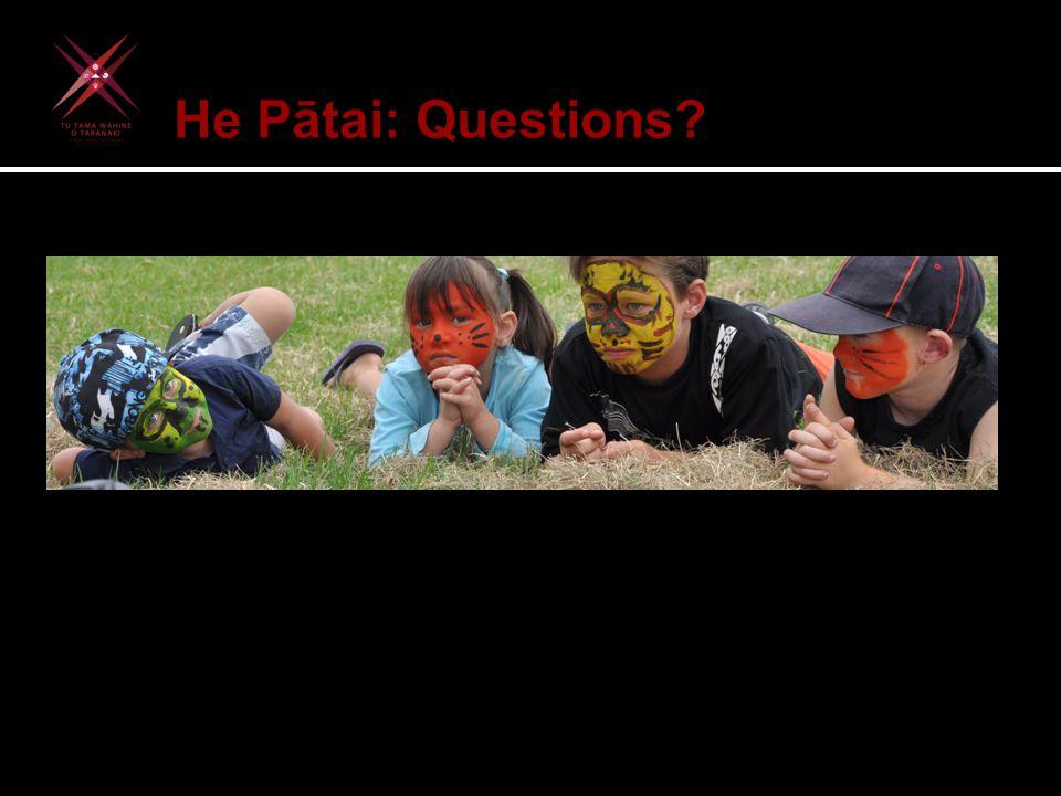 He Pātai: Questions