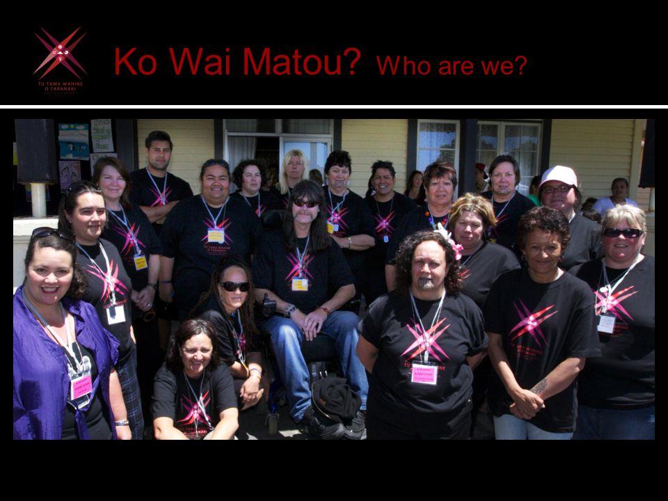 Ko Wai Matou. Who are we.  Kaupapa Maori Social Service and Community Development organisation.