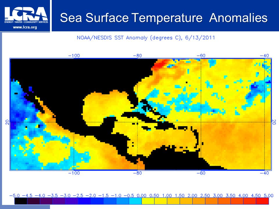 www.lcra.org Sea Surface Temperature Anomalies