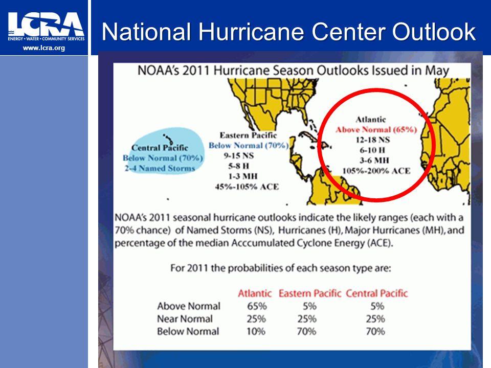 www.lcra.org National Hurricane Center Outlook