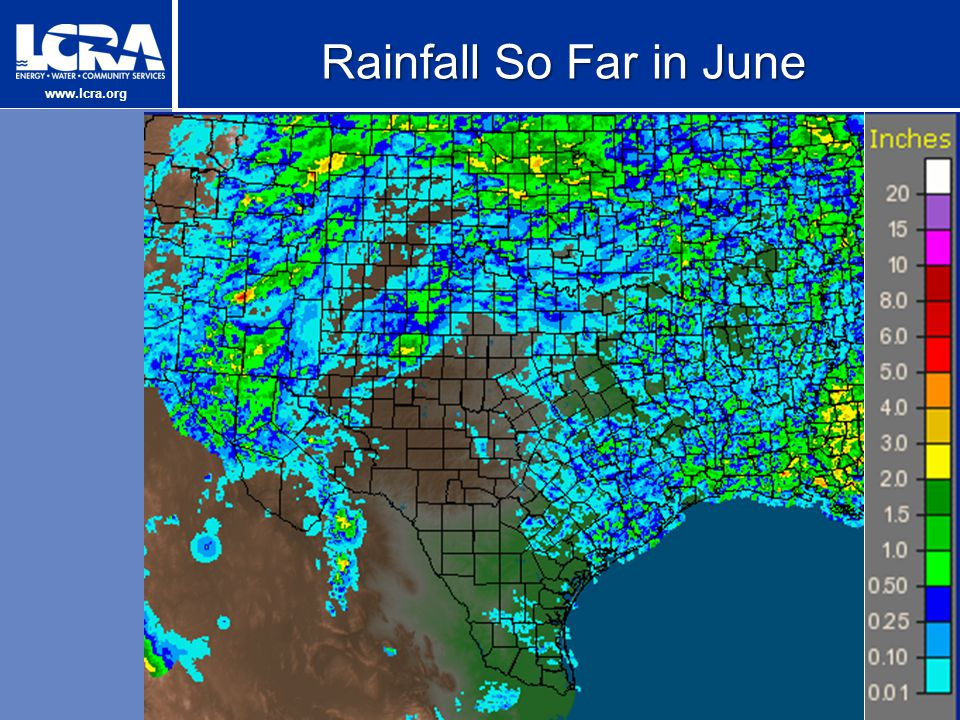 www.lcra.org Rainfall So Far in June