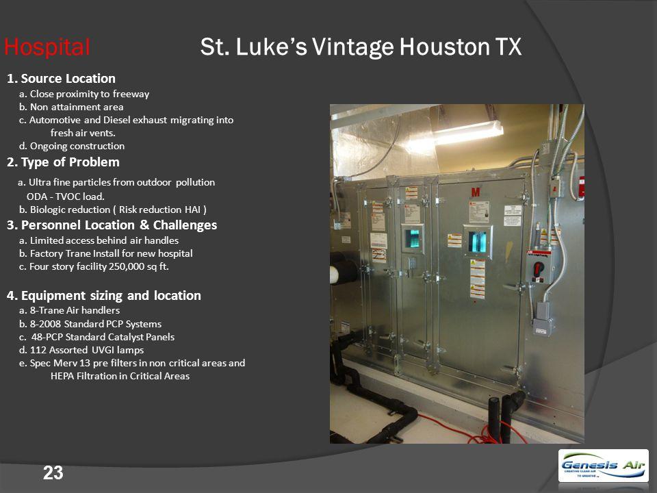 23 Hospital St. Luke's Vintage Houston TX 1. Source Location a.