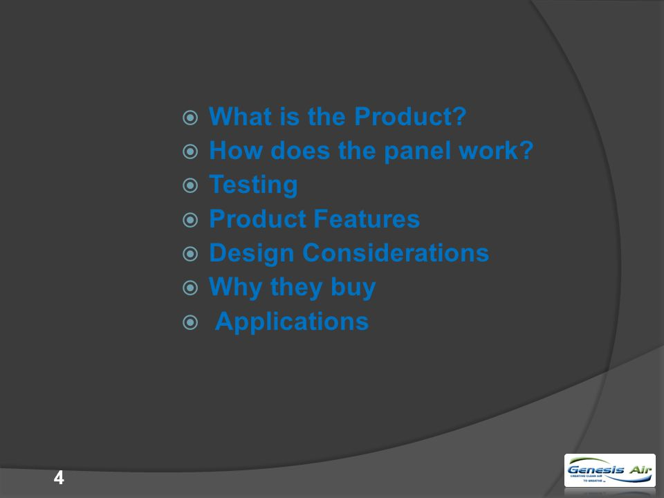  What is the Product. How does the panel work.