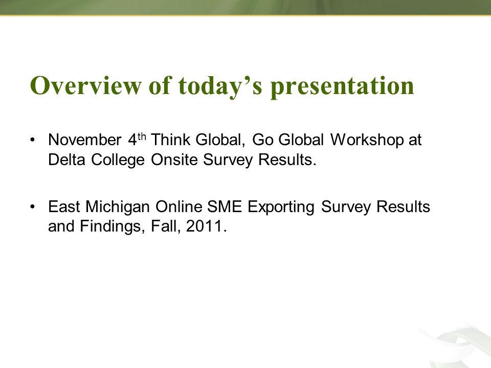 East Michigan EDC/EDO Responses –8 Local EDC/EDO responses.