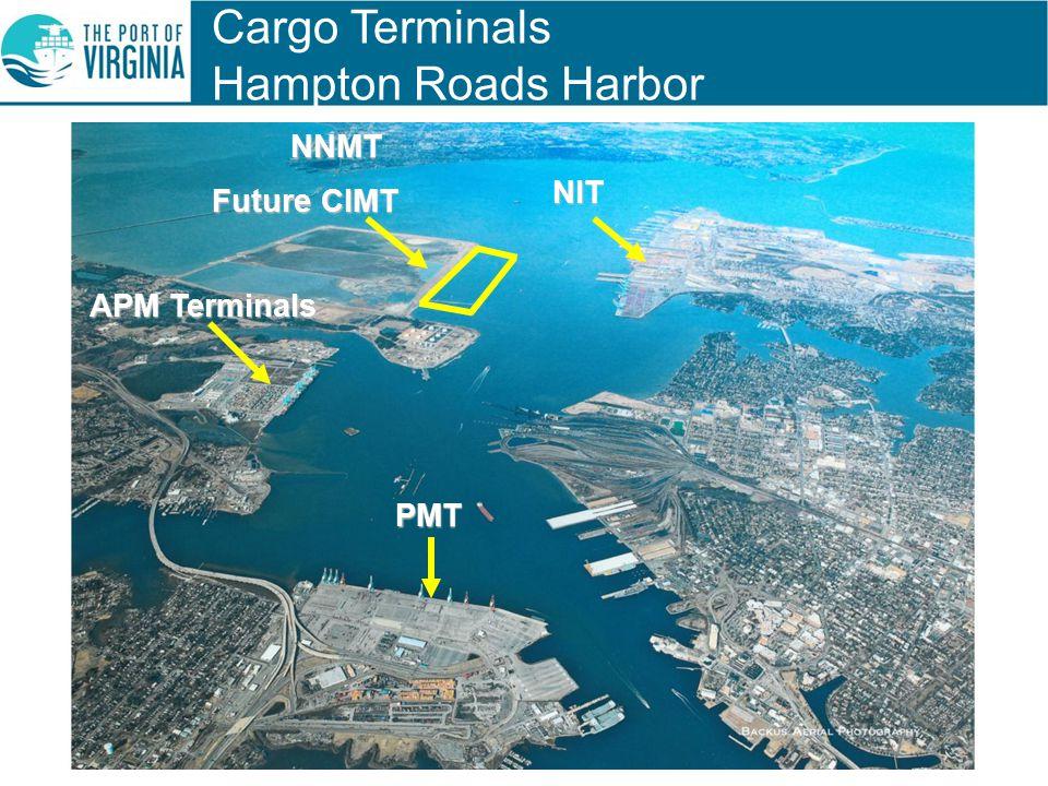 Cargo Terminals Hampton Roads HarborNIT NNMT Future CIMT PMT APM Terminals