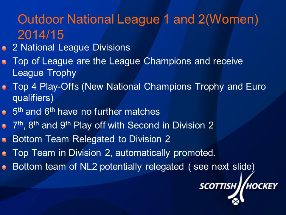 Indoor We had considerable feedback that teams didn't feel that the first seven games meant anything in INL1 or INL2.