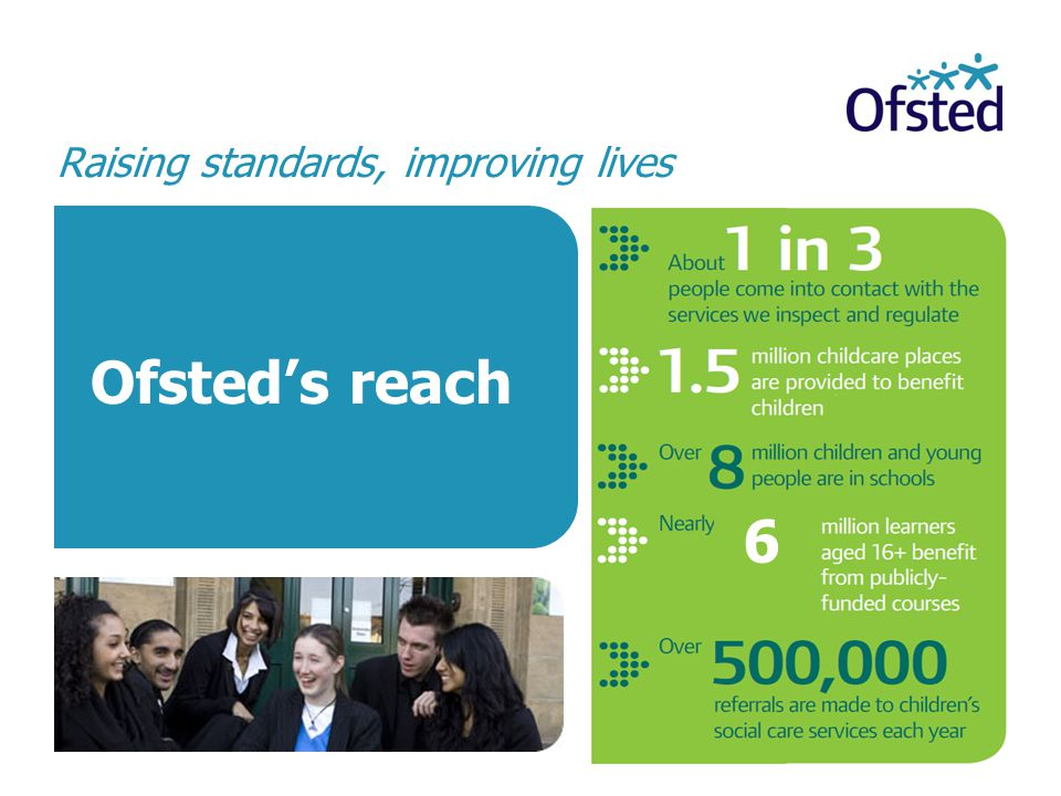 Ofsted's reach 6 Raising standards, improving lives
