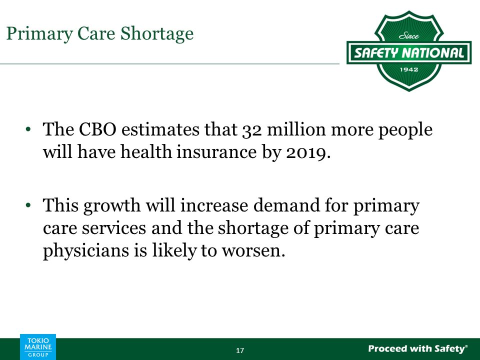 The CBO estimates that 32 million more people will have health insurance by 2019.