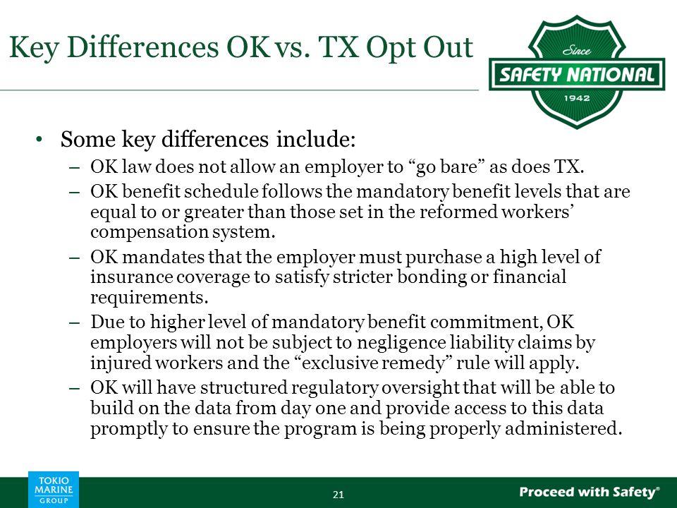 Key Differences OK vs.
