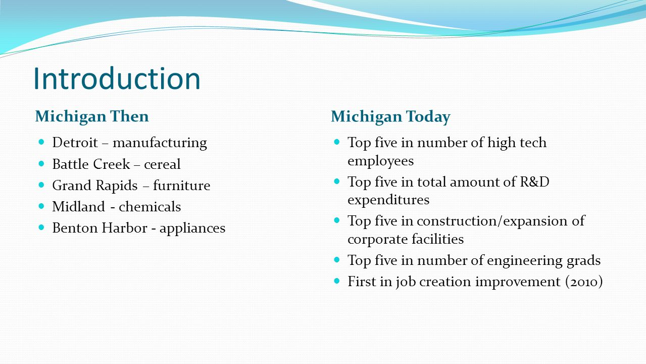 Michigan's entrepreneurial heritage was never lost; it was merely obscured by decades of industrial success.