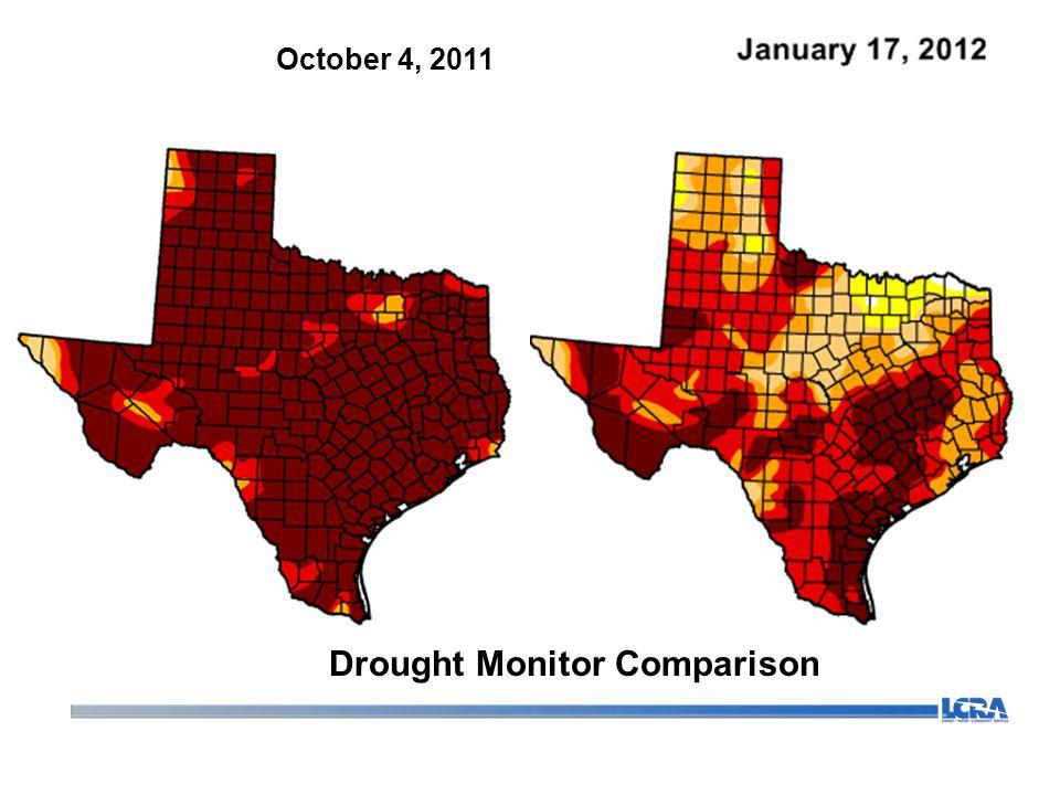 October 4, 2011 Drought Monitor Comparison