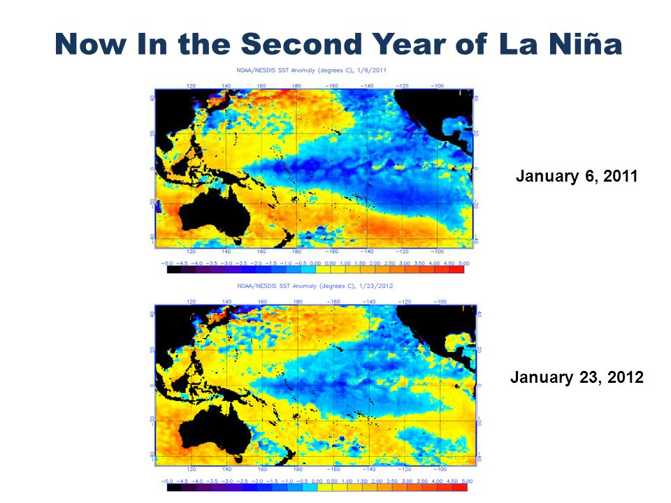 Now In the Second Year of La Niña January 6, 2011 January 23, 2012