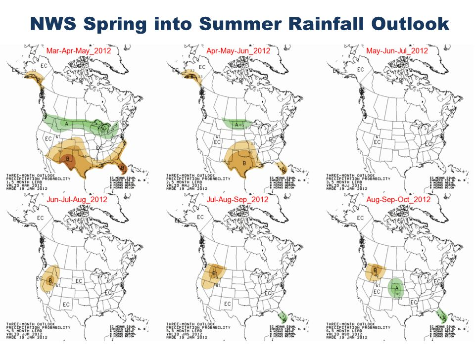 NWS Spring into Summer Rainfall Outlook